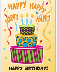 Note Card Happy Birthday